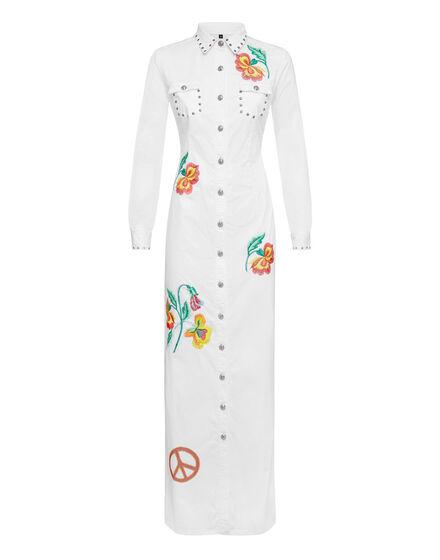 Denim Shirt Dress Asiatic Lily