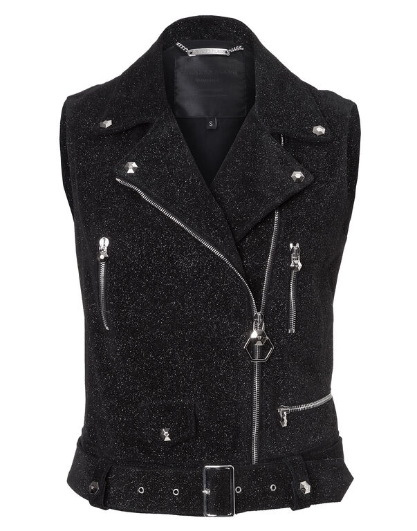 "Leather Vest ""Ouagadougou"""