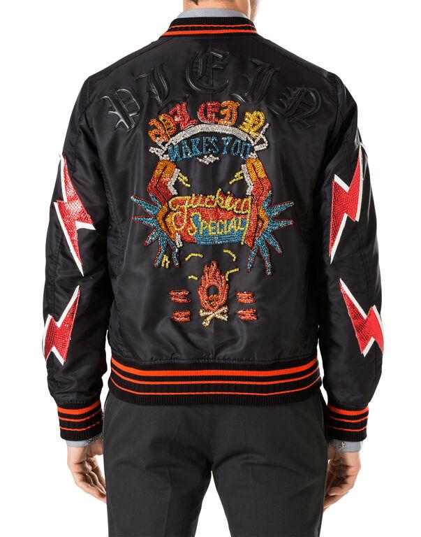"""Nylon Jacket """"F**k"""""""