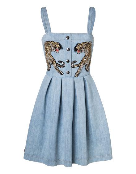 Denim Dress Its fine love