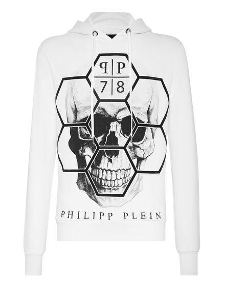 Hoodie sweatshirt Skull Exagonal
