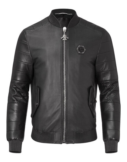leather bomber isolation