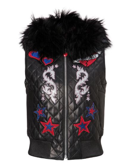 Leather Vest Short Sadnom