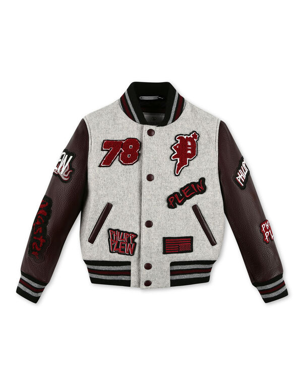 Leather Bomber  Patches