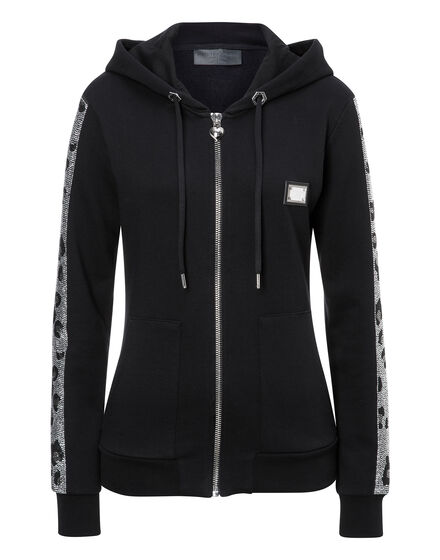Hoodie Sweatjacket Blue Hill