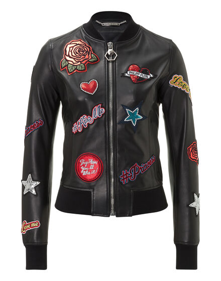 Leather Bomber Roses