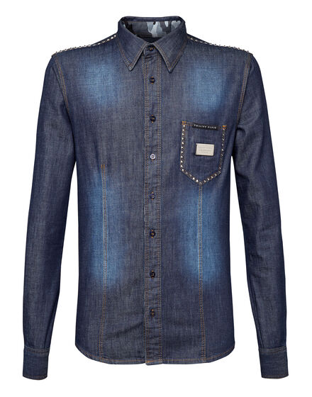 Denim Shirt Ls Studded