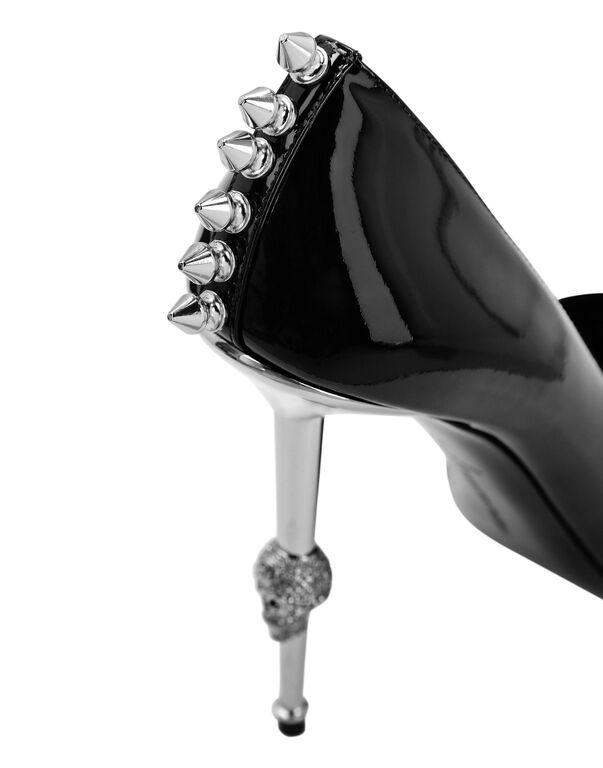 Patent Leather Decollete Hi-Heels Studs