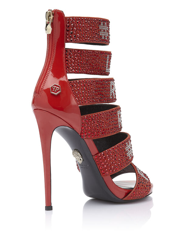"Sandals High Heels ""Loves rock and roll"""
