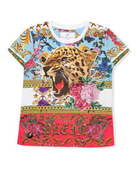 T-shirt Round Neck SS Baroque roses