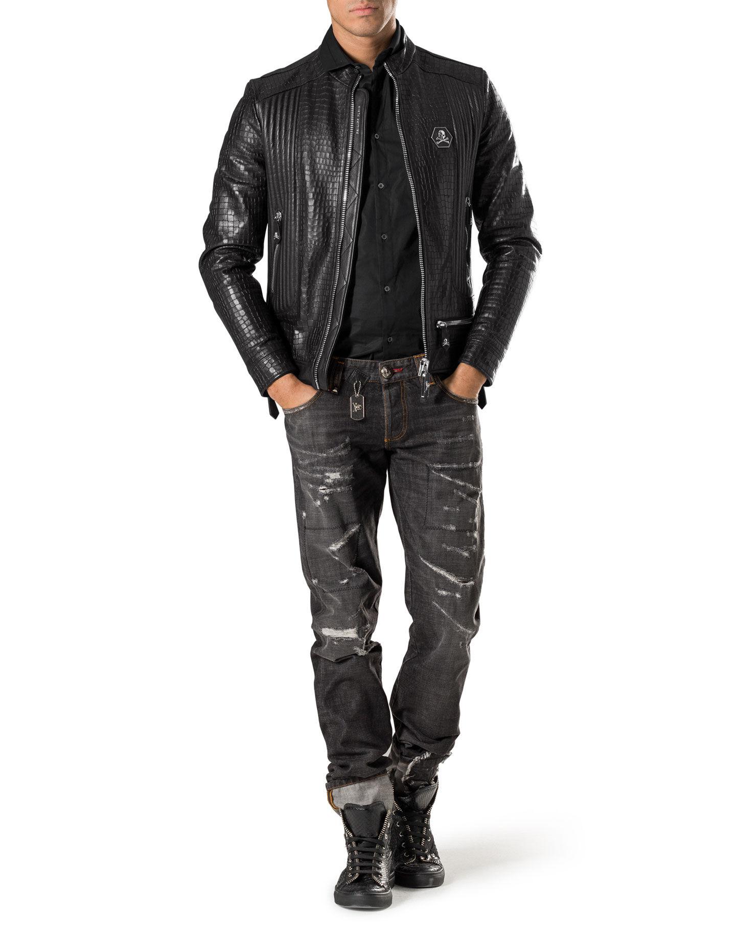 Philipp plein croco jacket