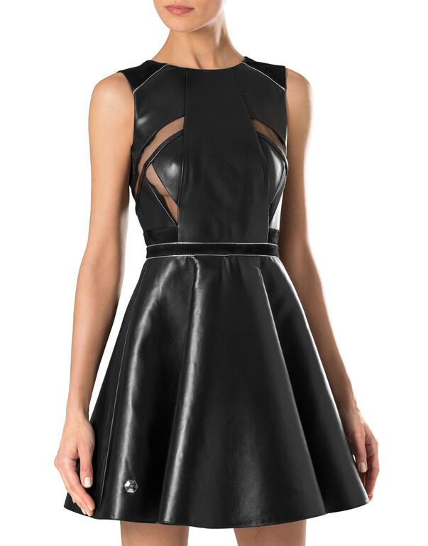 """leather dress """"fierce"""""""