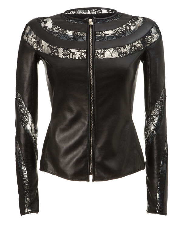 "leather jacket ""visuddha"""