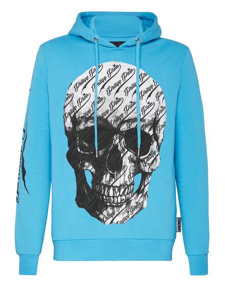 Hoodie sweatshirt Allover skull