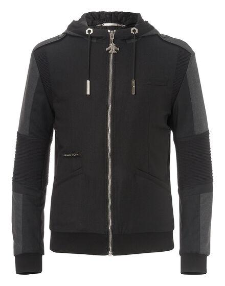 hooded jacket white sun