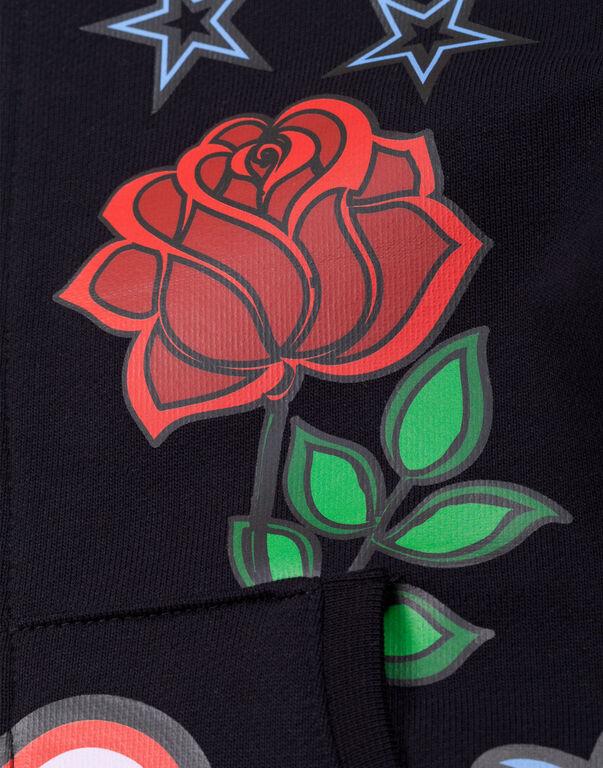 """Hoodie sweatshirt """"Honey Roses"""""""