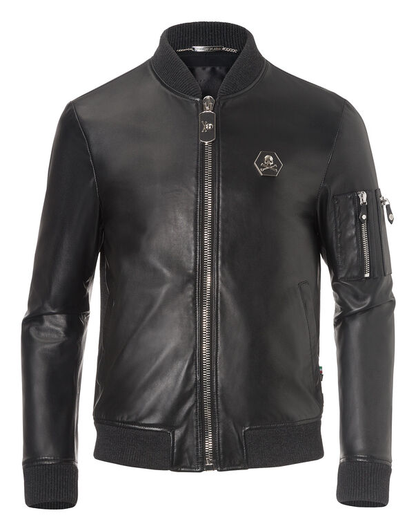 "leather jacket ""secretly"""