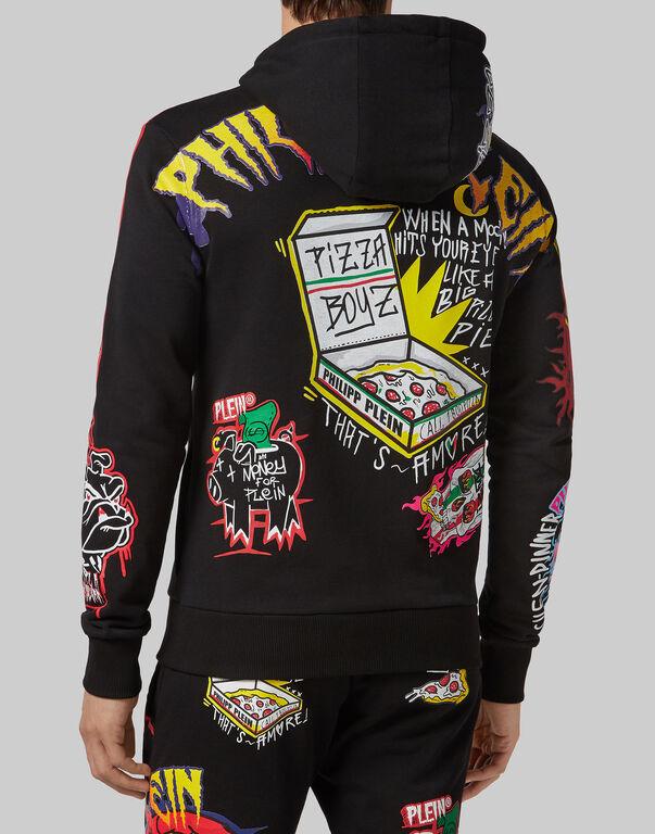 Hoodie sweatshirt Pizza boy