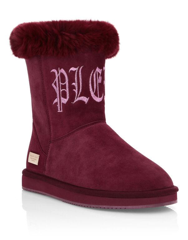 Boots Low Flat Gothic Plein