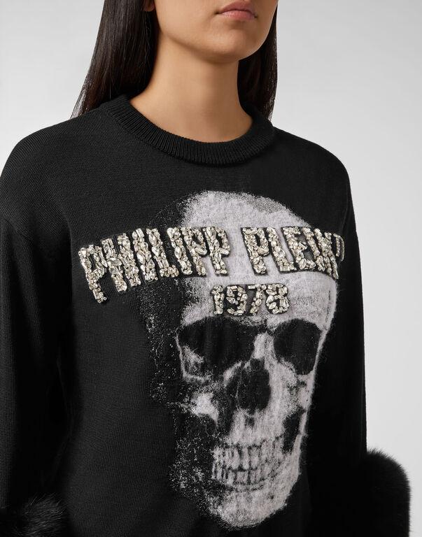 Pullover Round Neck SS Skull