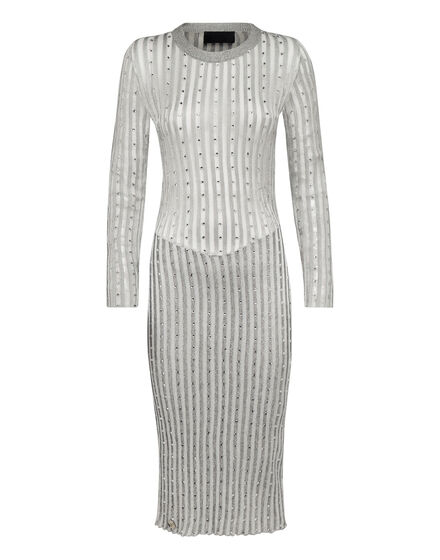 Knit Day Dress Crystal