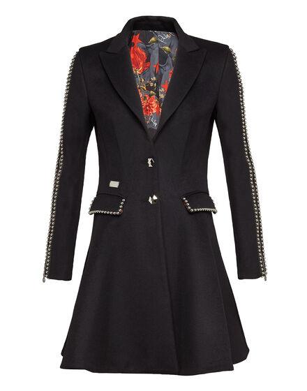 Coat Long Line Studs V