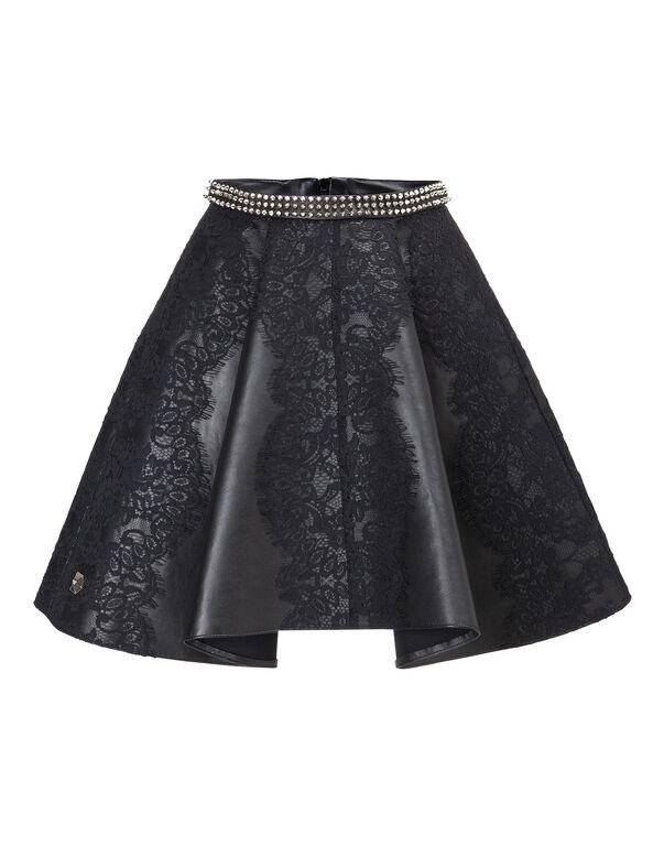 "leather skirt ""warrior gal"""