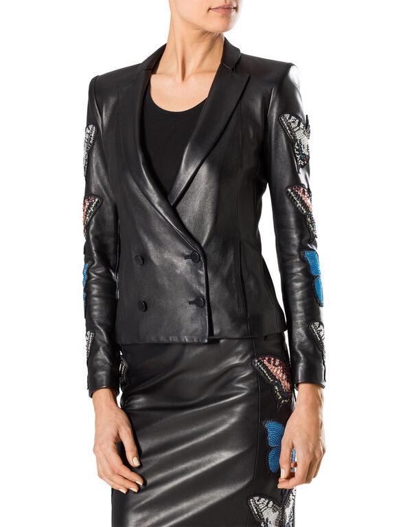 "leather jacket ""cipriani"""
