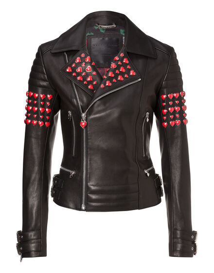 Leather Biker Maver