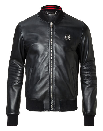 Leather Bomber Dead Shot