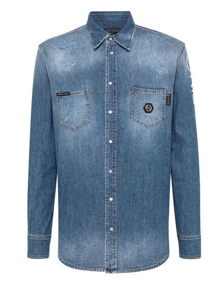 Denim Shirt Ls Philipp Plein TM