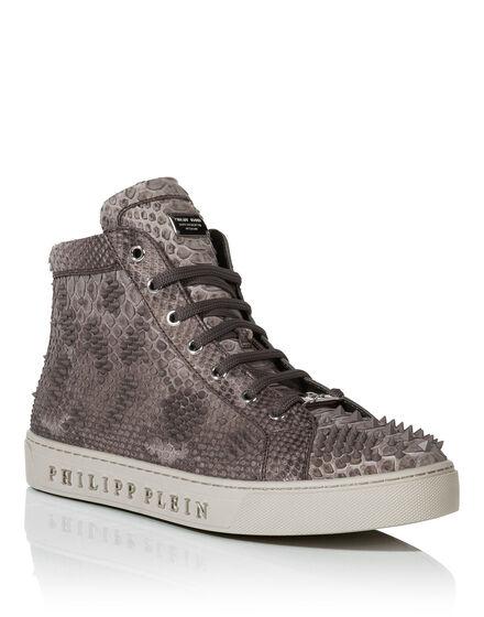 Hi-Top Sneakers skull lilac