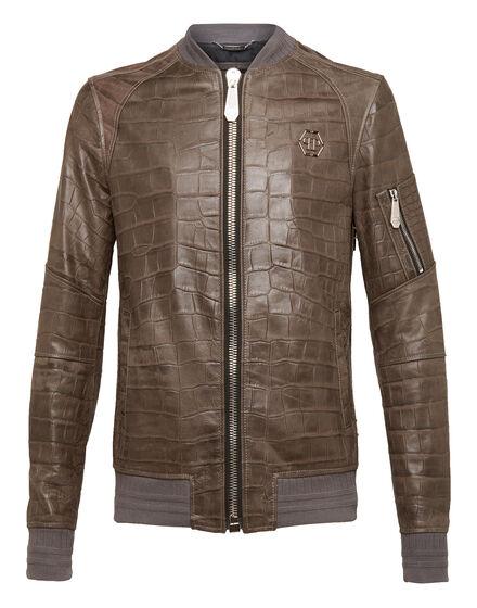 Leather Bomber Back Crock
