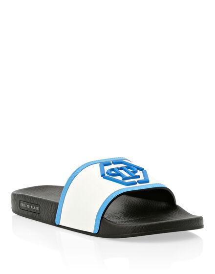 Flat gummy sandals Hexagon