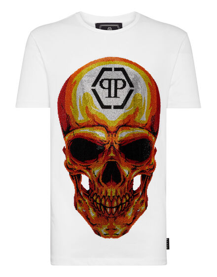 T-shirt Round Neck SS Skull crystal