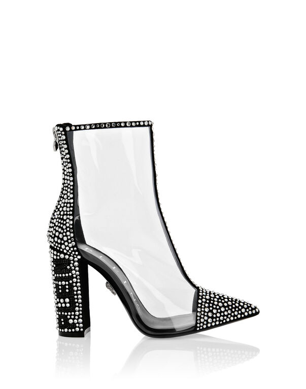 Boots High Heels Mid Crystal