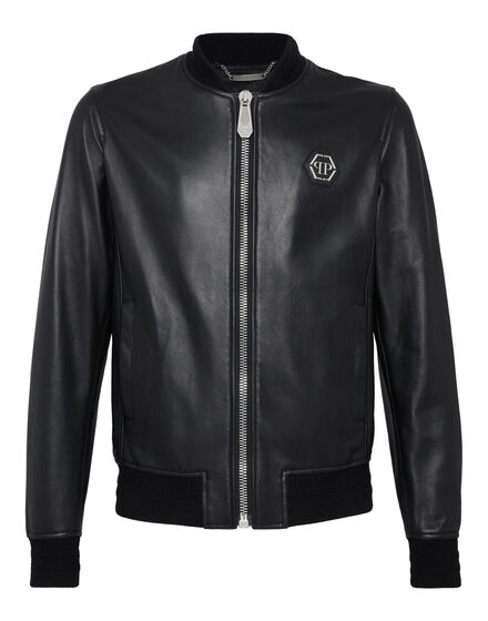 Leather Bomber Flame