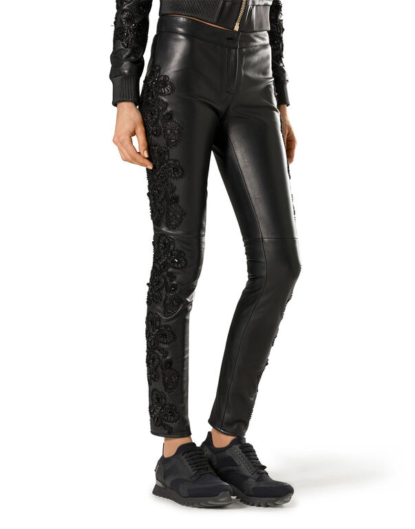 "leather trousers ""black widow"""