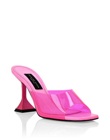 Sandals in pvc Mid Heels Iconic Plein