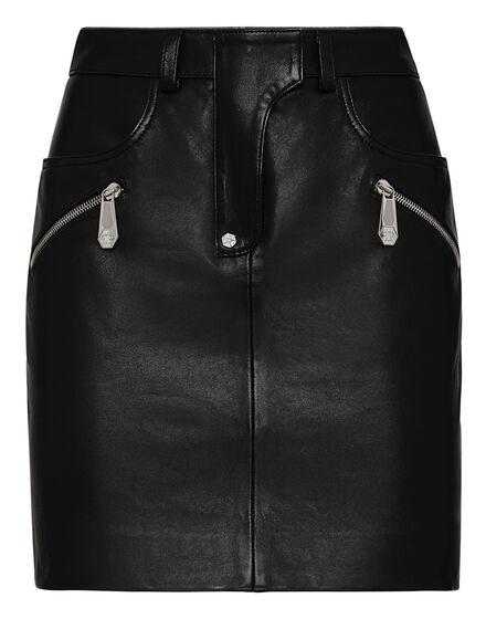 Leather Skirt Short