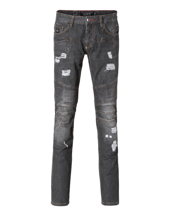 "biker fit denim ""californication"""