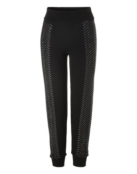 Knit Jogging Trousers Kelly Skull