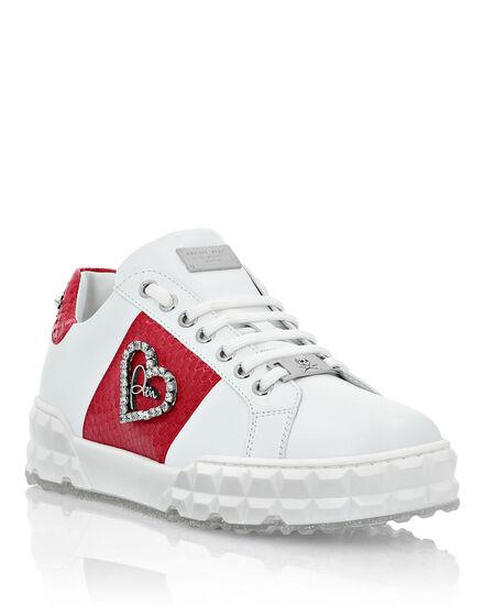 Lo-Top Sneakers elaphe and Love Plein