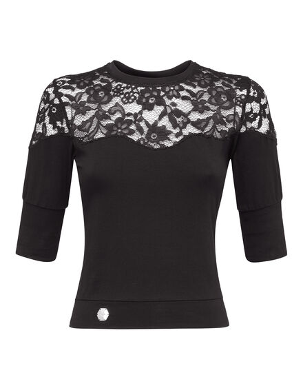 T-Shirt Round Neck SS Lace