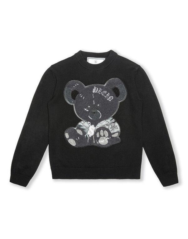 Pullover Round Neck LS Teddy Bear