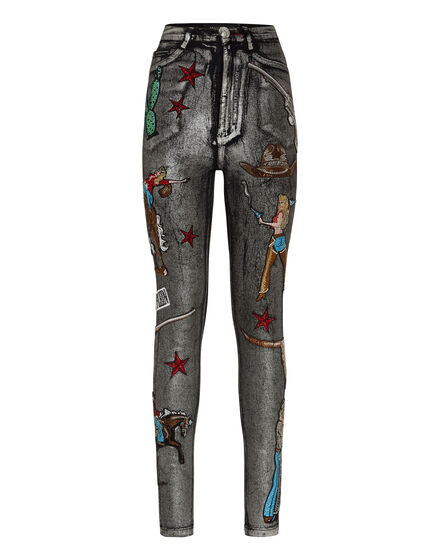 Super High Waist Jegging Cowboy