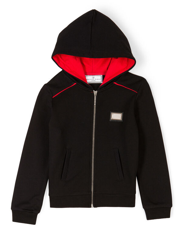 "Hoodie Sweatjacket ""Red Shock"""