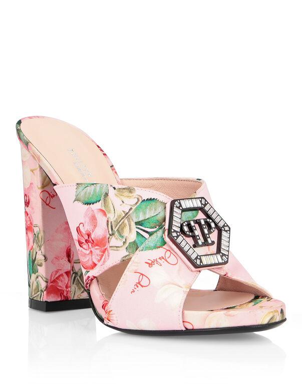 Sandals High Heels Flowers