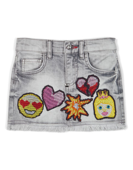 denim skirt unusual
