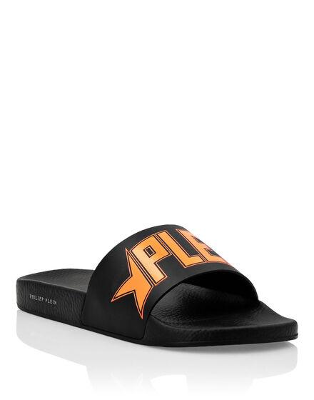 Flat gummy sandals Plein Star